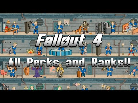 Fallout 4 - All Perks and Ranks List!!
