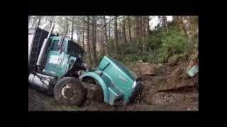 Dump Truck Looses Brakes Totaled on Impact
