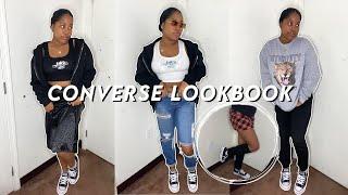 How I Style L๐w Top Platform Converse || Converse Lookbook ||