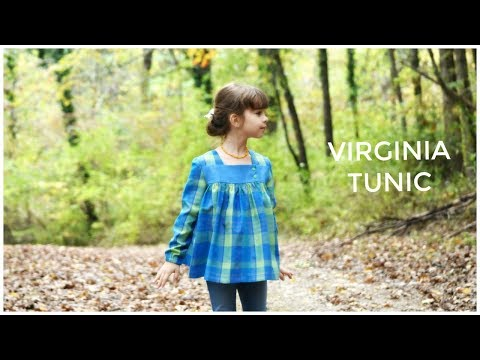 HOW TO SEW A DRESS, BLOUSE, TUNIC  - VIRGINIA SEWING PATTERN