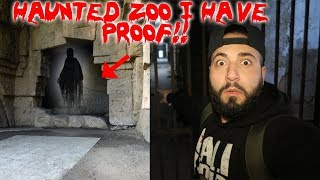 A GHOST PUSHED ME IN A HAUNTED ZOO CAUGHT ON CAMERA *I HAVE PROOF*