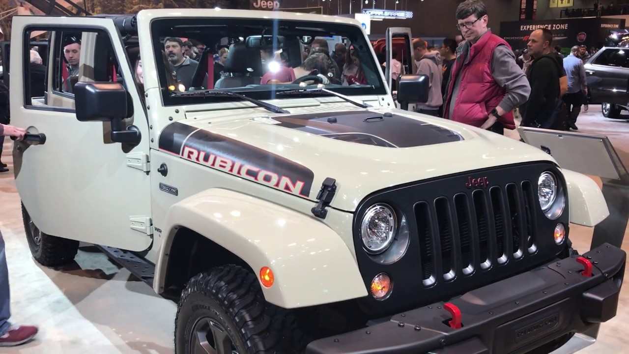 2017 Jeep Wrangler Unlimited Rubicon Recon Edition Gobi Paint Chicago Auto Show Summitauto Com You