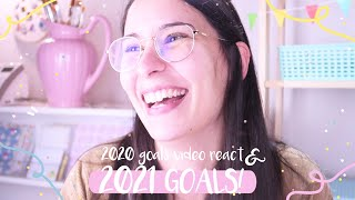 2021 GOALS! ⭐/ Reacting to my 2020 goals video / Setting some new and EXCITING goals
