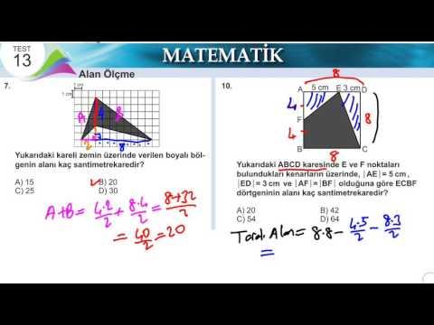 Sinif Matematik Alan Olcme Meb Kazanim Testi