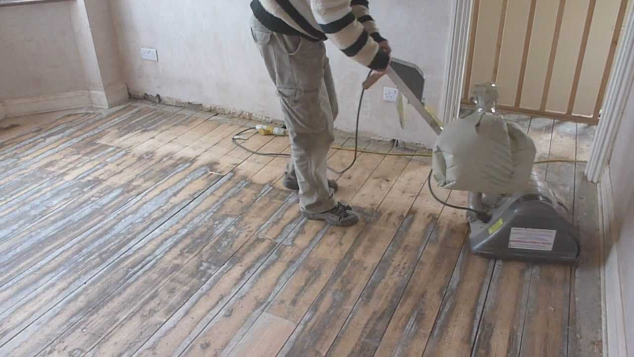How To Sand Wooden Floor Boards Part 1 Youtube