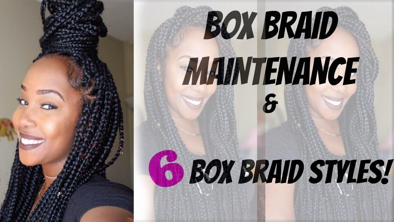 Box Braids Hairstyles Youtube: HOW I MAINTAIN MY HAIR IN BOX BRAIDS