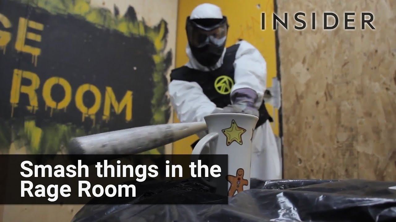 People visiting rage rooms relieve stress