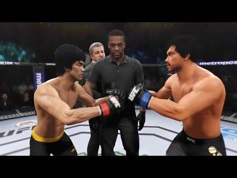 Bruce Lee vs. Vidyut Jamwal (EA sports UFC 2) - CPU vs. CPU