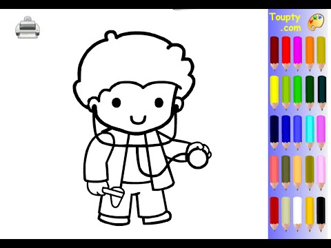doctor coloring pages for kids doctor coloring pages - Doctor Coloring Pages