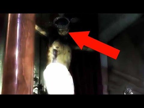 Statue Of Jesus Opens It's Eyes In Creepy Footage