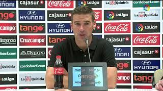 Rueda de prensa de Luis Carrión tras el Córdoba CF vs Cádiz CF (1-2)