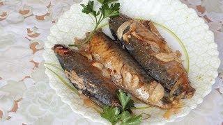 скумбрия, запеченная  в духовке  рецепт mackerel in the oven