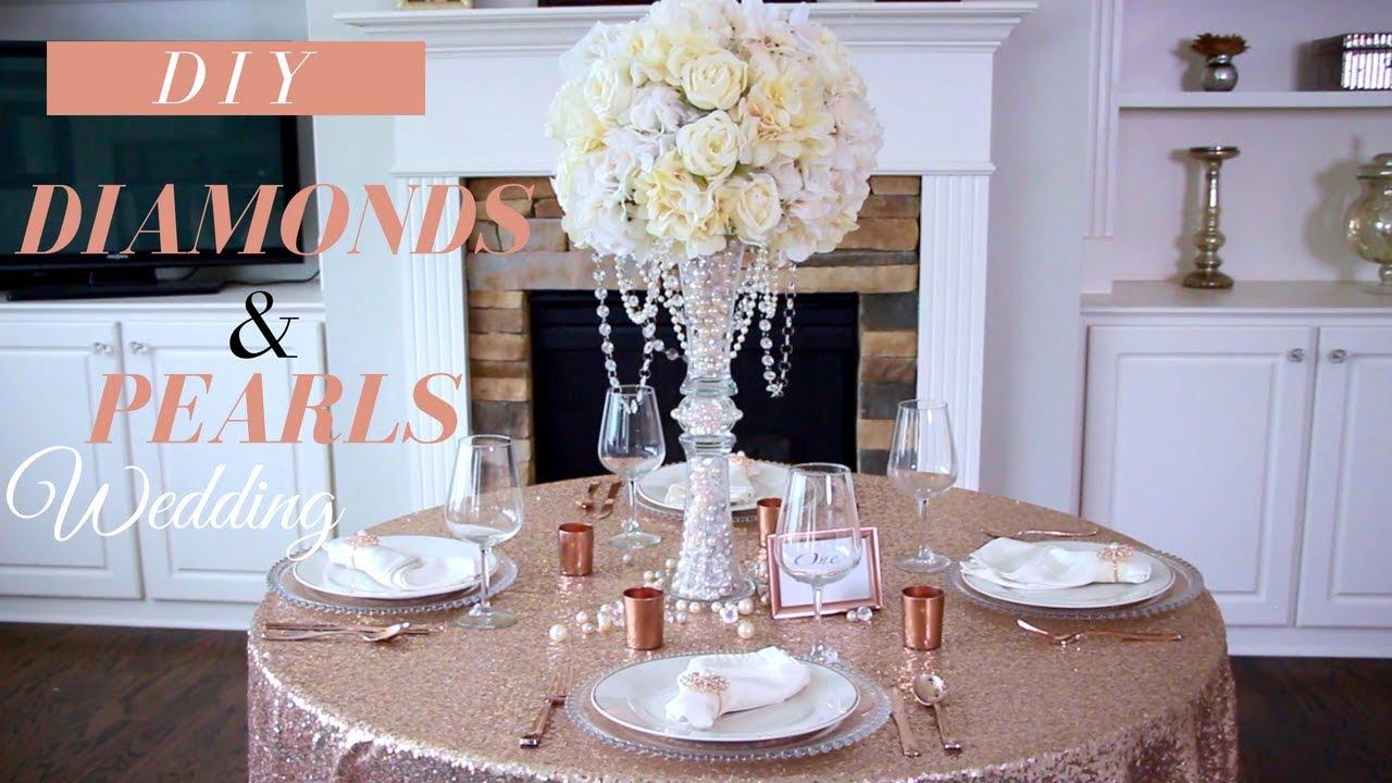Diy Wedding Decor Glam Diamonds Pearls Wedding Diy