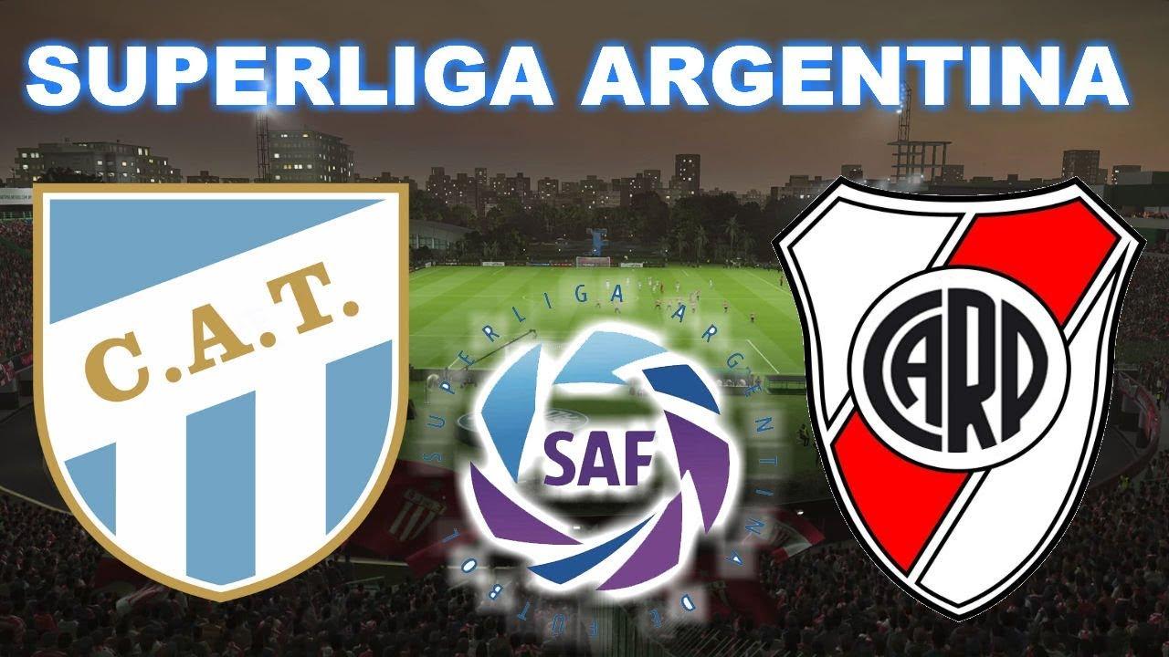 Atl U00e9tico Tucum U00e1n Vs River Plate 1 1 Superliga Argentina