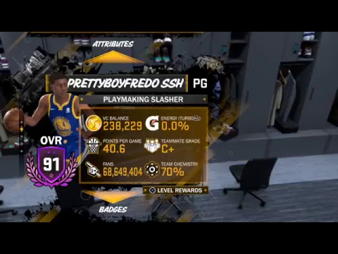 G.O.A.T OF NBA MYCAREER PRETTYBOYFREDO SSH(6 Time NBA CHAMPION)