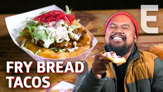 Fry Bread Tacos from a Native American Food Truck - Cooking in America