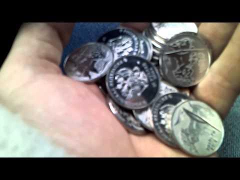 25 рублей,Сочи,вскрытая упаковка монет
