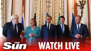 G7 Biarritz:​ First working session on the world economy, trade and security  | LIVE