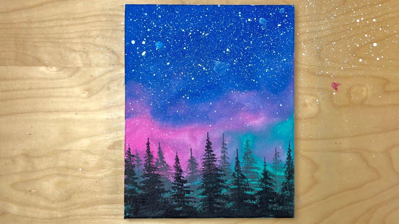 Easy Acrylic Painting for Beginners Tutorial   Acrylic ...