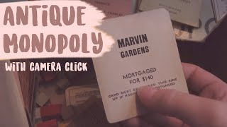 wordless ASMR - antique Monopoly cards, paper, and pieces (HD)
