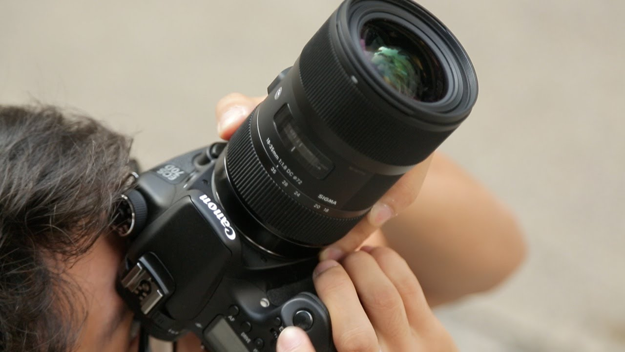 Sigma 18-35mm f/1.8 DC HSM Hands-on Review - DigitalRev TV