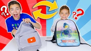 BACKPACK SWITCH UP CHALLENGE - Swan & Néo échangent leurs sacs à dos ! 😱