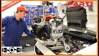 HOW TO Engine Install Subaru Impreza WRX/STI EJ20/EJ25 / エンジンの取り付け方法 PART 1 l Subi-Performance
