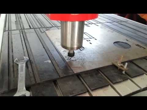 CNC router cutting on metal