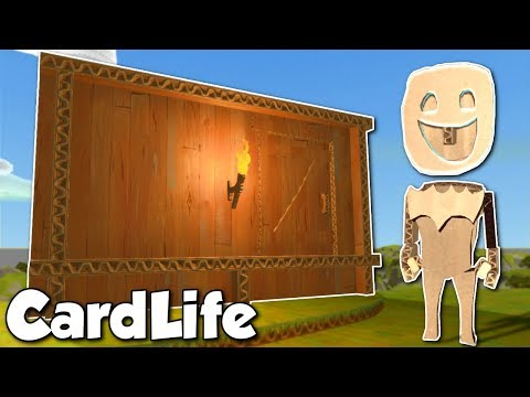 BUILDING A CARDBOARD HOUSE! - CardLife Gameplay Ep 1 - Cardboard Survival Building Game
