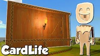 BUILDING A CARDBOARD HOUSE! - CardLife Gameplay Ep 1 - Cardboard Survival Building Game