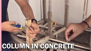 COLUMN IN CONCRETE--brick-laying--CERAMICS---COLUMN EN CONCRETO--albañileria-CERÀMICA