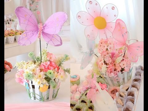Fiestas decoradas con mariposas y flores youtube for Decoracion con plantas para fiestas