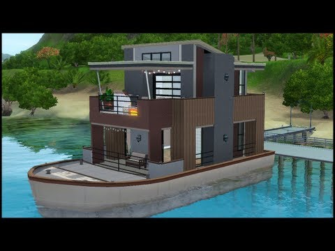 The Sims 3 - House Building - Serenity (houseboat)