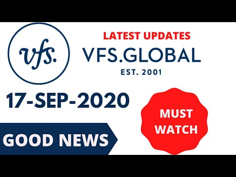 VFS Global India Latest Updates For 17-Sep-2020 | What Countries Are Reopen For VFS & Visa Services