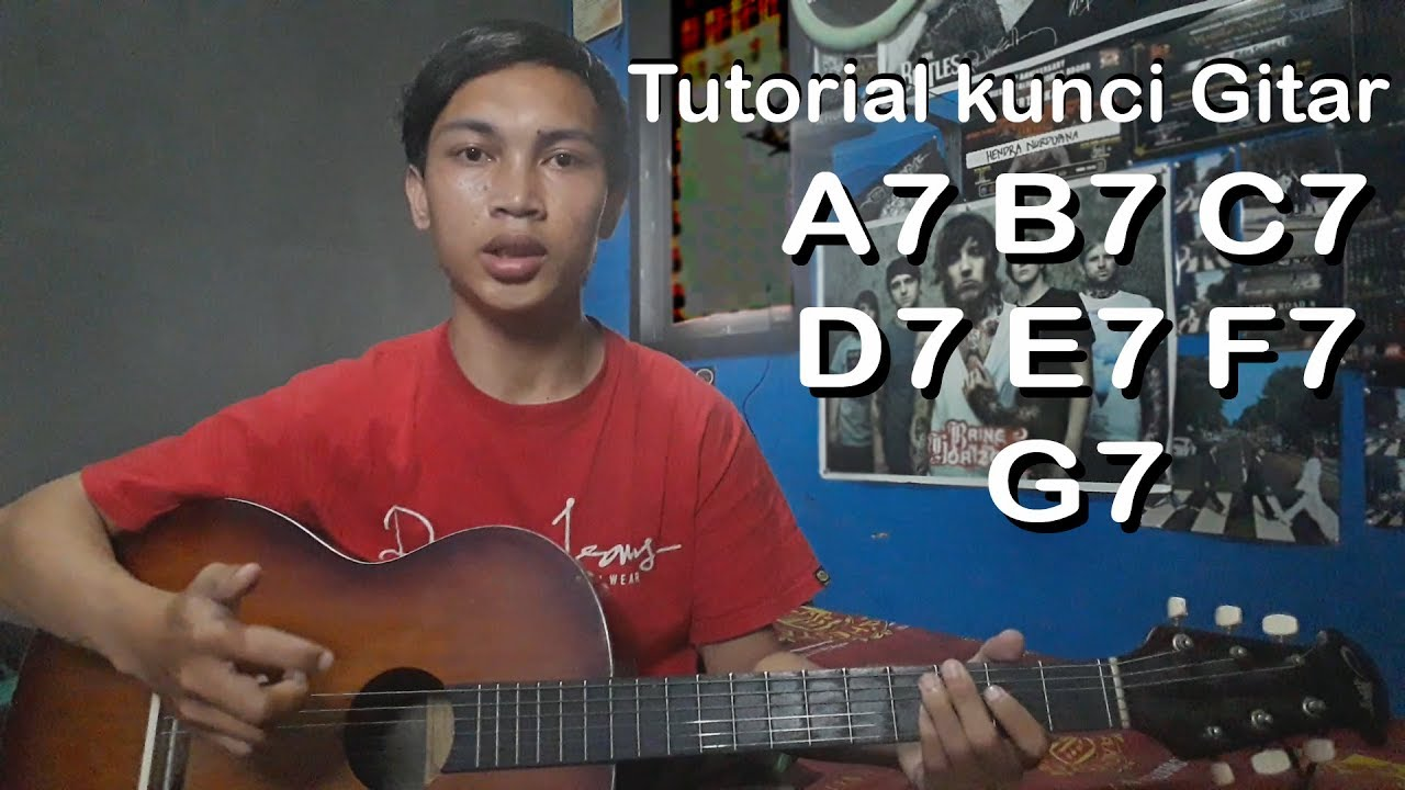 tutorial kunci gitar a7 sampai g7 pemula youtube. Black Bedroom Furniture Sets. Home Design Ideas