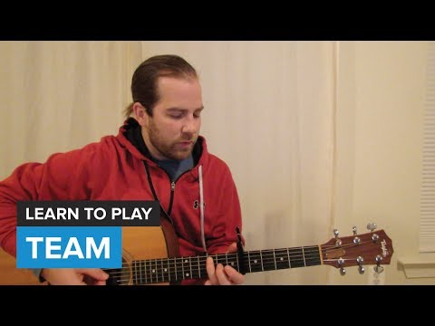 """How to play """"Team"""" by Lorde (Guitar Chords & Lesson)"""