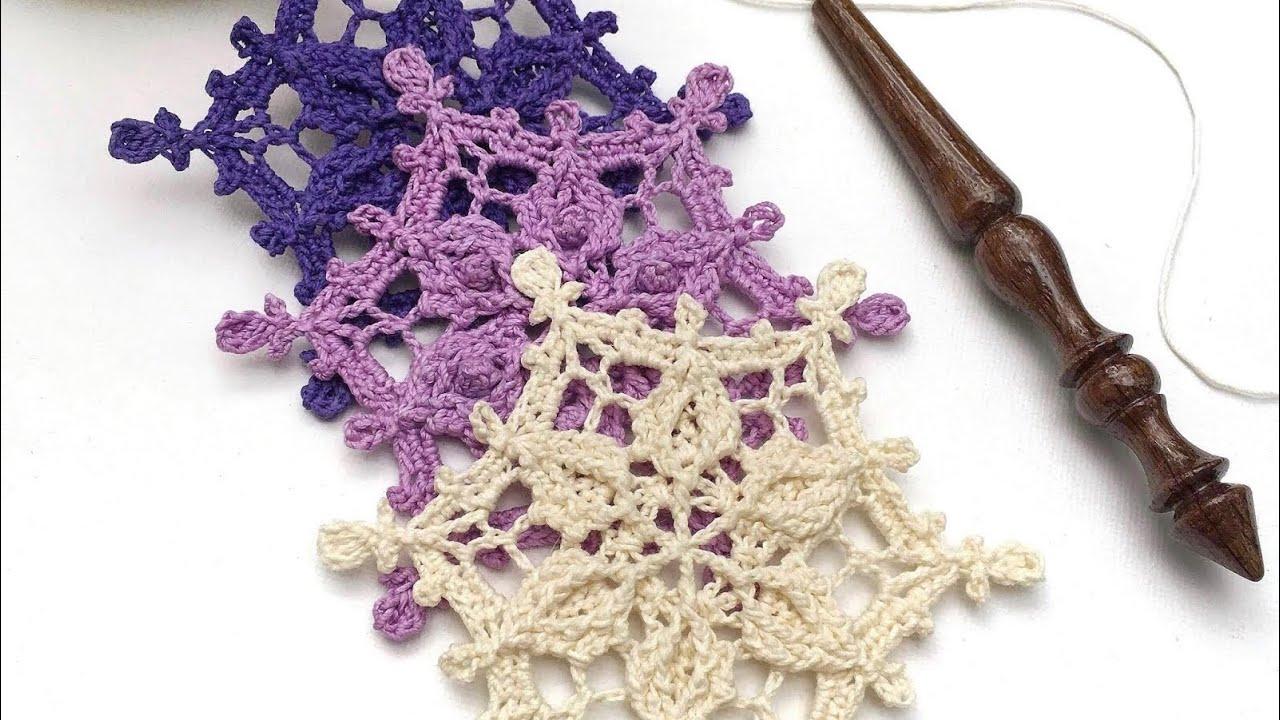 COPO DE NIEVE en alto relieve a Crochet - La Magia del Crochet-