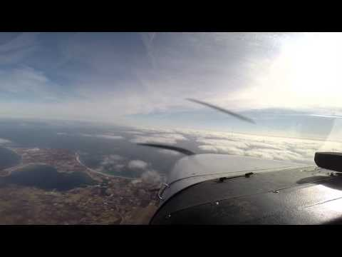 Scenic cold weather flight  from KISP to New Bedford, MA  (KEWB) Via Block Island