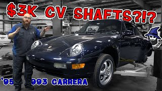 $3,000 for new CV shafts?!? CAR WIZARD saves customer serious $$$ on this '93 Porsche 993 Carrera