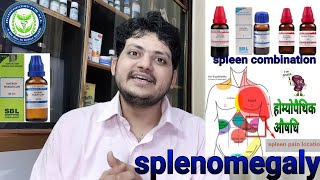 Enlarged spleen | तिल्ली का बढ़ना | Homeopathic Medicine For Splenomegaly ? Spleen Combination !