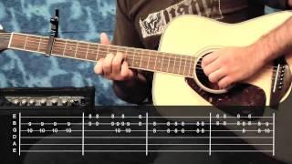 Mariposa Traicionera - guitarra - como t...