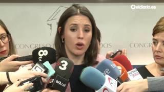 """Irene Montero: """"Es interés de la ciudadanía que el presidente de Murcia deje de gobernar"""""""