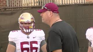 Florida State football raw practice video 9/18