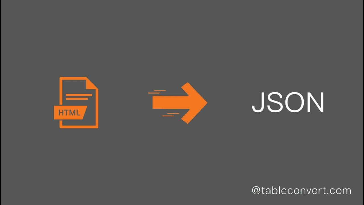 How to Convert HTML table code to JSON online?
