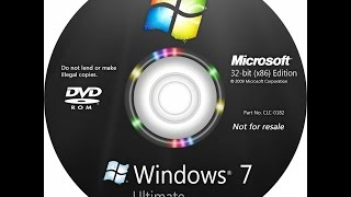 How to Install Windows 7 Ultimate SP1 Only Format C Drive