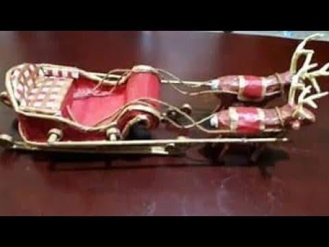 DIY Santa Claus Sleigh   Part 2...How to make a reindeer?