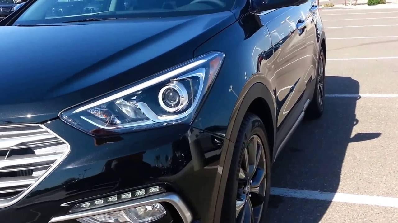 2017 Santa Fe Sport 20t Ultimate Black Youtube Hyundai