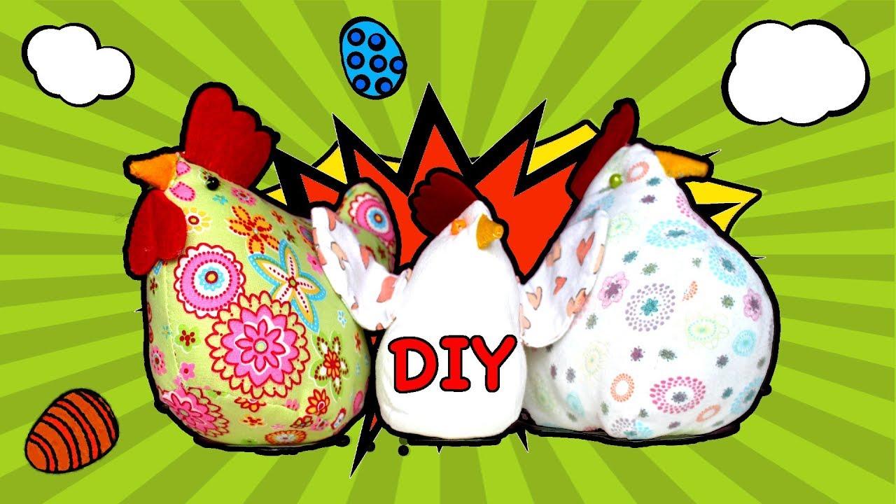 Diy Wielkanocna Kura Czyli Jak Uszyć Zabawkę Na Maszynie Youtube