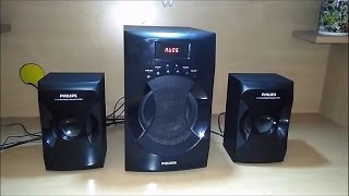 Philips 2 1 Multimedia Speaker System Explode MMS4040F 94 Unboxing Reviews