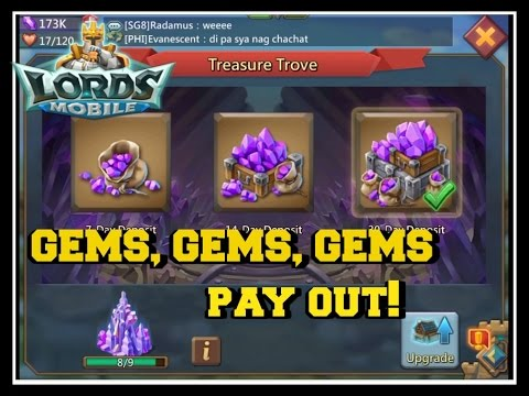 Lords Mobile: FREE GEMS Treasure Trove PAYOUT!